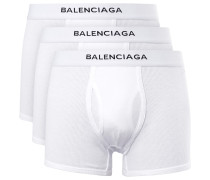 Three-pack Ribbed Cotton Boxer Briefs