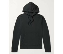 Garment-Dyed Loopback Cotton-Jersey Hoodie