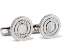 Gyro Palladium-plated Mother-of-pearl Cufflinks