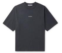 Logo-Print Garment-Dyed Cotton-Jersey T-Shirt