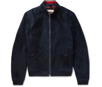 Suede Harrington Jacket