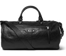 Arena Creased-leather Duffle Bag