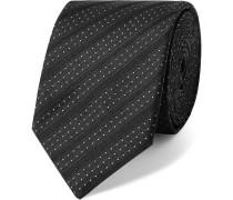 6cm Striped And Polka-dot Silk-jacquard Tie