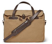 Original Leather-trimmed Twill Briefcase