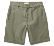 Shadow Slim-fit Slub Cotton Shorts