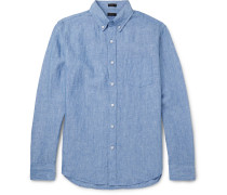 Delave Button-down Collar Linen Shirt