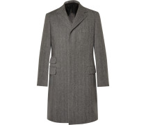 Herringbone Wool Overcoat