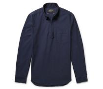 Cotton Oxford Half-zip Shirt