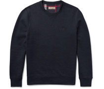 Fleece-back Cotton-blend Jersey Sweatshirt