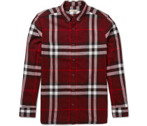 Brit Button-down Collar Checked Cotton-flannel Shirt
