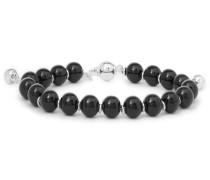 San Valentino Glass Bead Sterling Silver Bead Bracelet
