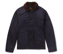 Deckhand Faux Shearling-trimmed Cotton-canvas Jacket