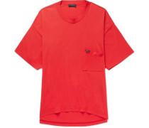 Europe 2018 Oversized Printed Cotton-jersey T-shirt