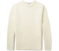 Slim-fit Ribbed Alpaca-blend Sweater