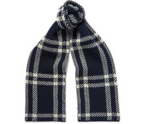 Saaen Checked Wool Scarf