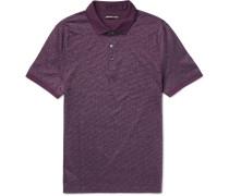 Slim-fit Cotton-jacquard Polo Shirt