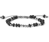 Templar Silver And Onyx Bracelet