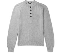 Cotton, Cashmere And Cotton-blend Henley Sweater