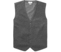 Flannel And Herringbone Wool Waistcoat