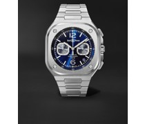 BR 05 Automatic Chronograph 42mm Stainless Steel Watch, Ref. No. BR05C-BU-ST/SST