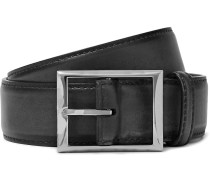 3.5cm Black Classic Leather Belt