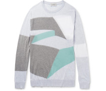 Intarsia Sea Island Cotton Sweater
