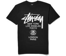 World Tour Printed Cotton-jersey T-shirt