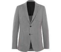 Unstructured Stretch-wool Suit Jacket