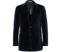 Blue Kai Slim-fit Unstructured Cotton-velvet Blazer