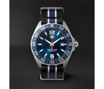 Formula 1 43mm Stainless Steel And Nato Webbing Watch