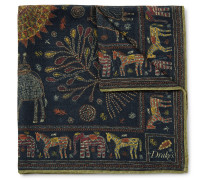 Printed Wool And Silk-blend Gauze Pocket Square