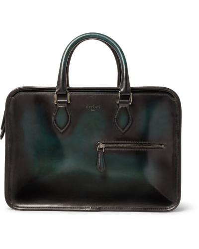 Berluti Herren Un Jour Mini Leather Briefcase