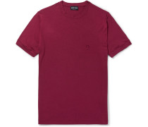 Slim-Fit Logo-Embroidered Stretch-Jersey T-Shirt