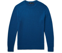 Hilbet Ribbed Stretch-cotton Sweater