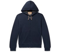 Double-Faced Cotton-Blend Jersey Zip-Up Hoodie