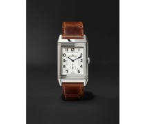 Reverso Classic Large 27mm Stainless Steel and Leather Watch