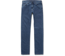 Stretch Cotton And Cashmere-blend Denim Jeans