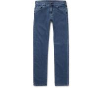 Stretch Cotton And Cashmere-blend Denim Jeans