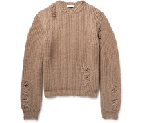 Distressed Alpaca And Wool-blend Sweater