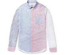 Slim-fit Colour-block Striped Cotton Shirt