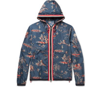 Anton Slim-fit Webbing-trimmed Printed Shell Hooded Jacket