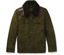 Shearling And Leather-trimmed Suede Field Jacket