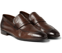 Lorenzo Polished Full-grain Leather Loafers