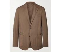 Unstructured Garment-Dyed Telavela Stretch-Cotton Blazer