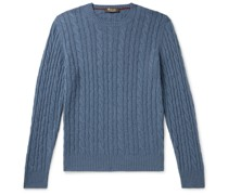 Slim-Fit Cable-Knit Baby Cashmere Sweater