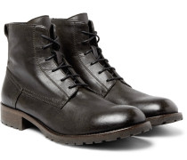 Alperton Burnished-leather Boots
