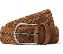 3.5cm Woven Suede Belt