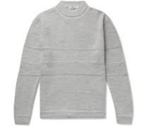 Mélange Textured Baby Alpaca Sweater