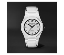 + Bamford Watch Department Laureato Ghost Limited Edition Automatic 38mm Ceramic and Leather Watch, Ref. No. 81005-32-733-8B7A