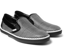 Grove Checked Leather Slip-on Sneakers